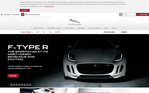 Access jaguar.co.uk using Hola Unblocker web proxy