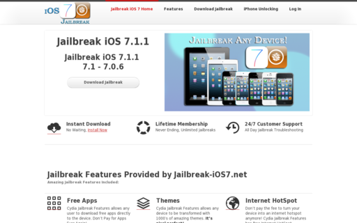 Access jailbreak-ios7.net using Hola Unblocker web proxy