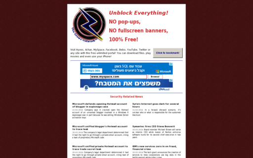Access jailbreaked.net using Hola Unblocker web proxy