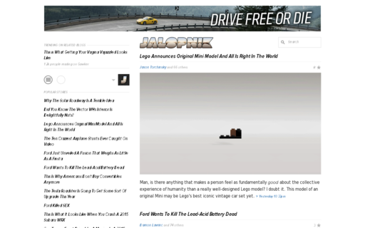 Access jalopnik.com using Hola Unblocker web proxy