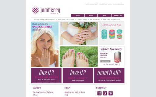 Access jamberrynails.net using Hola Unblocker web proxy