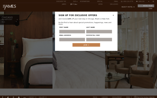 Access jameshotels.com using Hola Unblocker web proxy