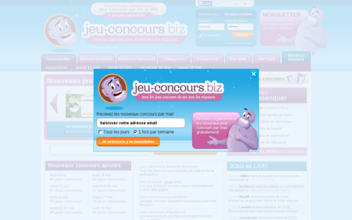 Access jeu-concours.biz using Hola Unblocker web proxy