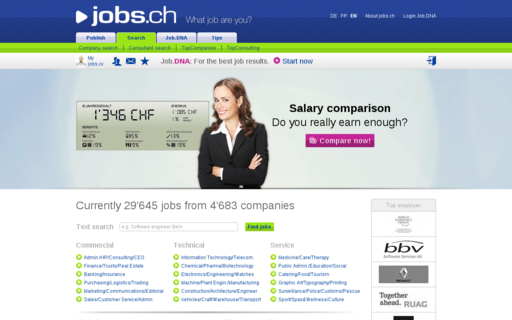 Access jobs.ch using Hola Unblocker web proxy