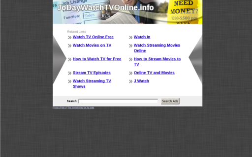 Access jodaywatchtvonline.info using Hola Unblocker web proxy