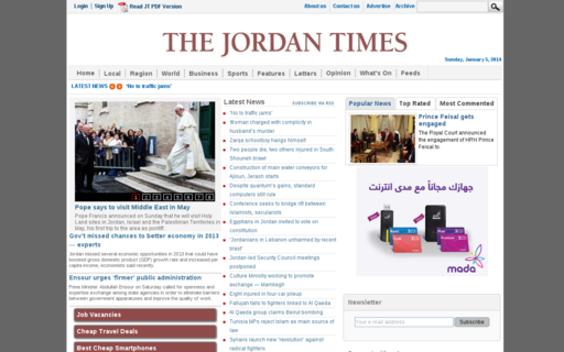 Access jordantimes.com using Hola Unblocker web proxy