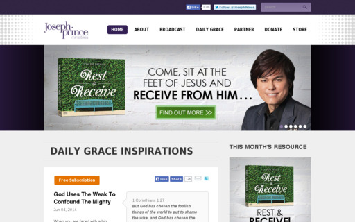 Access josephprince.org using Hola Unblocker web proxy
