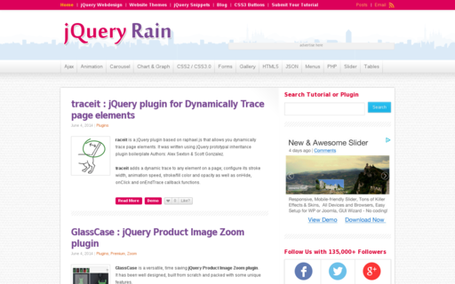 Access jqueryrain.com using Hola Unblocker web proxy