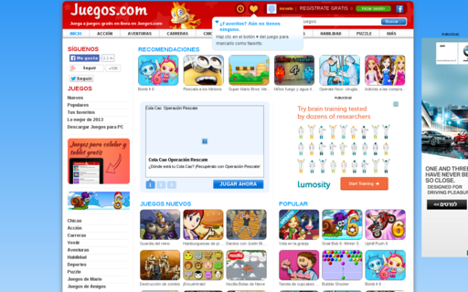 Access juegos.com using Hola Unblocker web proxy