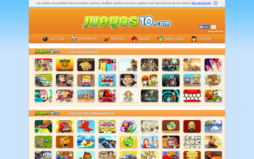 Access juegos10.com using Hola Unblocker web proxy