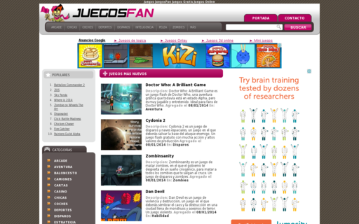 Access juegosfan.com using Hola Unblocker web proxy
