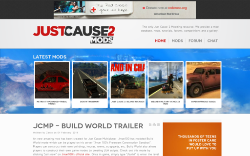 Access justcause2mods.com using Hola Unblocker web proxy