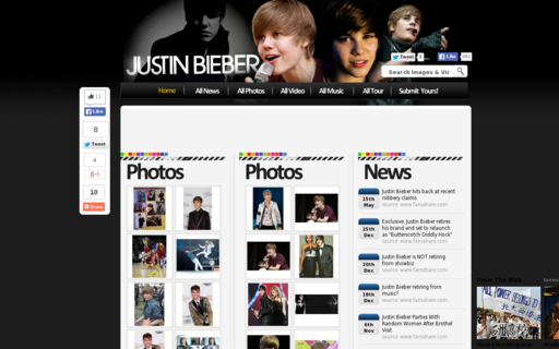 Access justinbieberfans.co.uk using Hola Unblocker web proxy