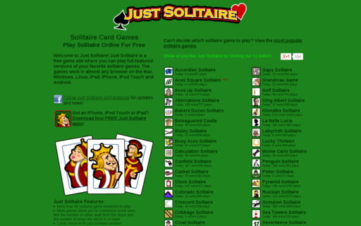 Access justsolitaire.com using Hola Unblocker web proxy