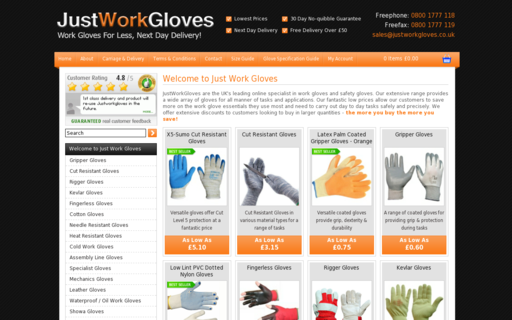 Access justworkgloves.co.uk using Hola Unblocker web proxy