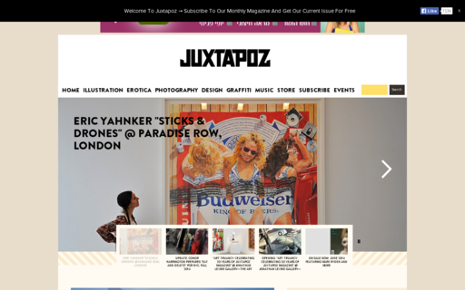 Access juxtapoz.com using Hola Unblocker web proxy