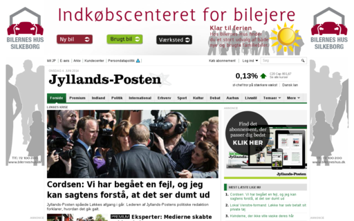 Access jyllands-posten.dk using Hola Unblocker web proxy