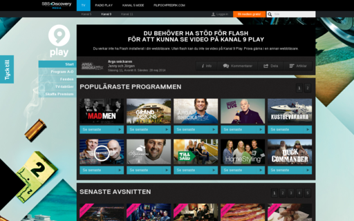 Access kanal9play.se using Hola Unblocker web proxy