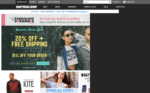Access karmaloop.com using Hola Unblocker web proxy