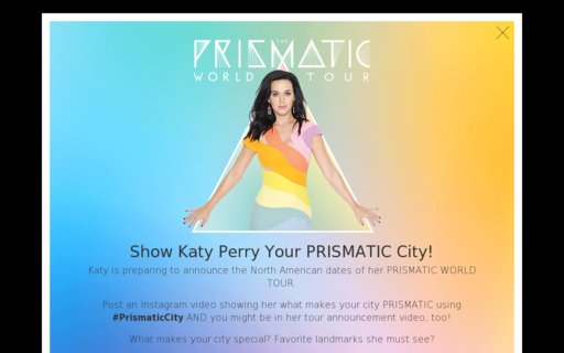 Access katyperry.com using Hola Unblocker web proxy