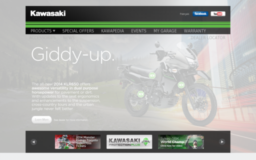 Access kawasaki.ca using Hola Unblocker web proxy
