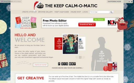 Access keepcalm-o-matic.co.uk using Hola Unblocker web proxy