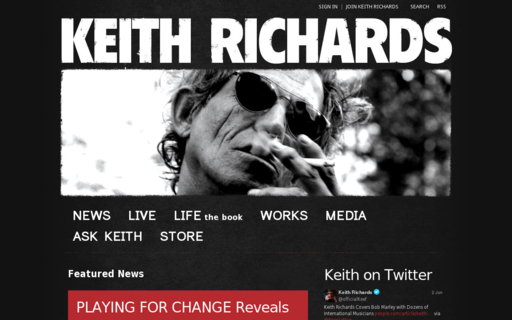 Access keithrichards.com using Hola Unblocker web proxy