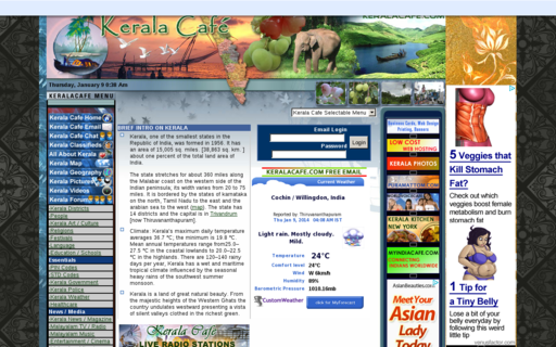 Access keralacafe.com using Hola Unblocker web proxy