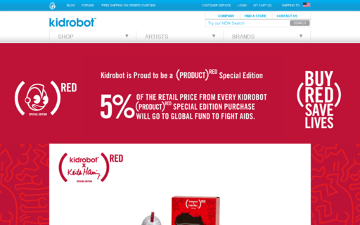 Access kidrobot.com using Hola Unblocker web proxy