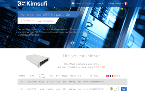 Access kimsufi.com using Hola Unblocker web proxy