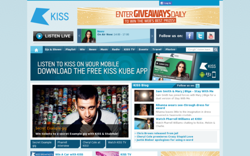 Access kissfmuk.com using Hola Unblocker web proxy