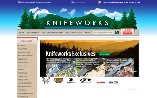 Access knifeworks.com using Hola Unblocker web proxy