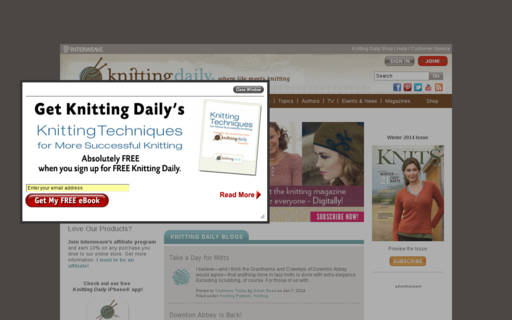 Access knittingdaily.com using Hola Unblocker web proxy