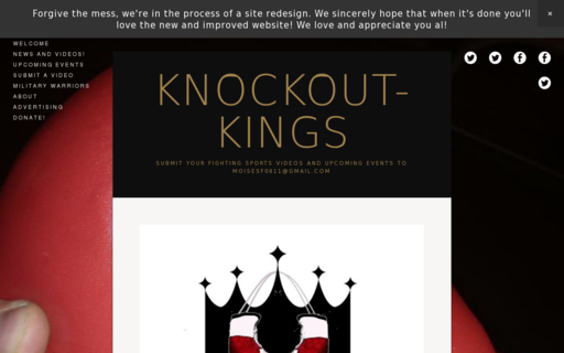 Access knockout-kings.org using Hola Unblocker web proxy