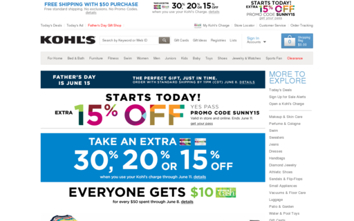 Access kohls.com using Hola Unblocker web proxy