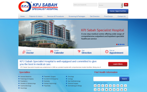 Access kpjsabah.com using Hola Unblocker web proxy