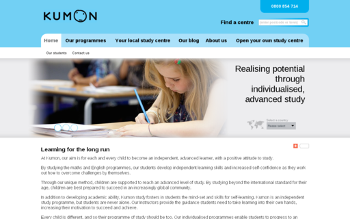 Access kumon.co.uk using Hola Unblocker web proxy