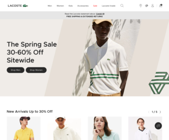 Access lacoste.com using Hola Unblocker web proxy