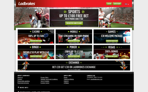 Access ladbrokes.com using Hola Unblocker web proxy