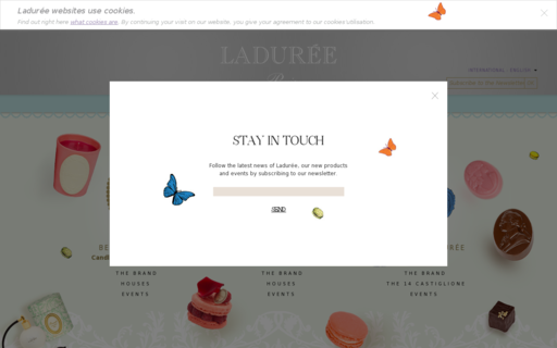 Access laduree.com using Hola Unblocker web proxy