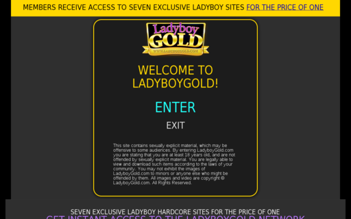 Access ladyboygold.com using Hola Unblocker web proxy