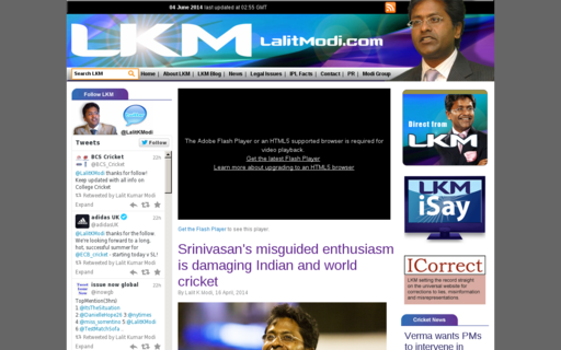 Access lalitmodi.com using Hola Unblocker web proxy