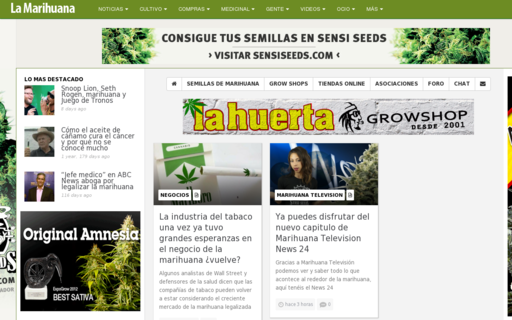 Access lamarihuana.com using Hola Unblocker web proxy