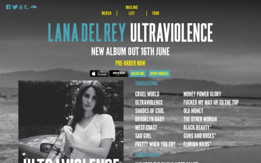 Access lanadelrey.com using Hola Unblocker web proxy