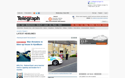 Access lancashiretelegraph.co.uk using Hola Unblocker web proxy