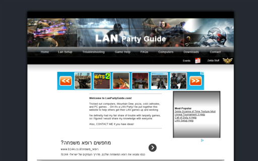Access lanpartyguide.com using Hola Unblocker web proxy