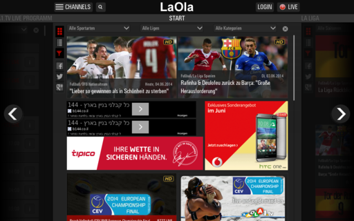Access laola.de using Hola Unblocker web proxy
