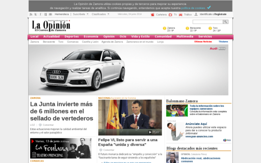 Access laopiniondezamora.es using Hola Unblocker web proxy