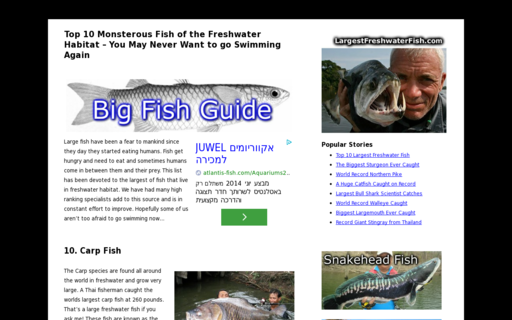 Access largestfreshwaterfish.com using Hola Unblocker web proxy