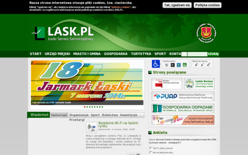 Access lask.pl using Hola Unblocker web proxy